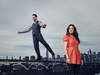 Lucy Liu and Jonny Lee Miller
