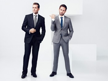 Gabriel Macht and Patrick J. Adams © 2014 NBC Universal Media, LLC