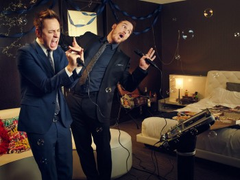 James Gunn and Chris Pratt