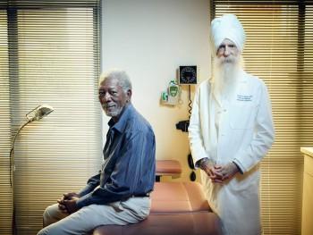 Morgan Freeman and Dr. Soram Khalsa