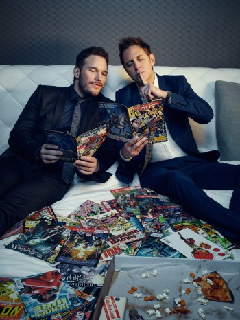 Chris Pratt and James Gunn