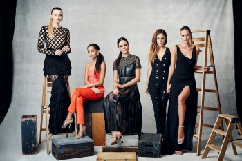 Abbey Lee, Zoe Kravitz, Courtney Eaton, Riley Keough, and Rosie Huntington-Whitely
