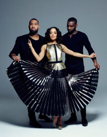 Tessa Thompson with Stylists Wayman and Micah